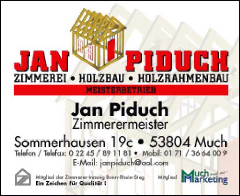 anzeige Jan Piduch Zimmerei in bunt